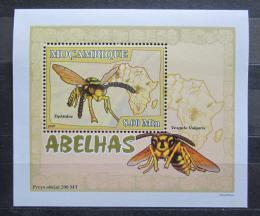 Poštovní známka Mosambik 2007 Vèely a vosy DELUXE Mi# 2939 Block