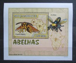 Poštovní známka Mosambik 2007 Vèely a vosy DELUXE Mi# 2940 Block
