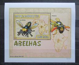 Poštovní známka Mosambik 2007 Vèely a vosy DELUXE Mi# 2941 Block