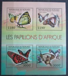 Poštovní známky Burundi 2012 Motýli Mi# 2758-61 Bogen Kat 10€
