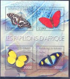 Poštovní známky Burundi 2012 Motýli Mi# 2762-65 Bogen Kat 10€