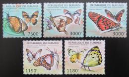 Poštovní známky Burundi 2012 Motýli Mi# 2758-61,2766 Kat 10€