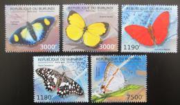 Poštovní známky Burundi 2012 Motýli Mi# 2762-65,2767 Kat 10€