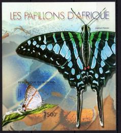 Poštovní známka Burundi 2012 Motýli neperf. Mi# Block 277 B