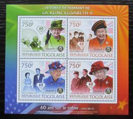 Poštovní známky Togo 2012 Královna Alžbìta II. Mi# 4453-56 Kat 12€