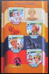 Poštovní známky Svatý Tomáš 2015 Princezna Diana Mi# 6475-78 Kat 12€
