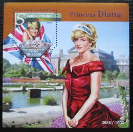 Poštovní známka Svatý Tomáš 2015 Princezna Diana Mi# Block 1148 Kat 10€