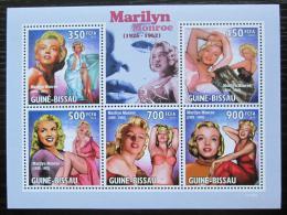 Poštovní známky Guinea-Bissau 2010 Marilyn Monroe Mi# 4551-55 Kat 11€