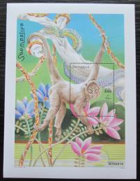 Poštovní známka Somálsko 2002 Vøeš�an èerný Mi# Block 90 Kat 14€