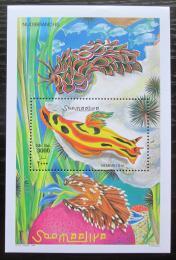 Poštovní známka Somálsko 1999 Mušle Mi# Block 65 Kat 10€