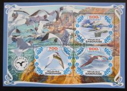 Poštovní známky Gabon 2019 Moøští ptáci Mi# N/N