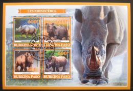 Poštovní známky Burkina Faso 2019 Nosorožci Mi# N/N