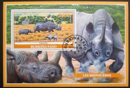 Poštovní známka Burkina Faso 2019 Nosorožci Mi# N/N