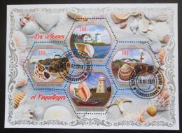 Poštovní známky Pobøeží Slonoviny 2018 Mušle a majáky Mi# N/N