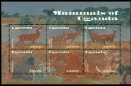 Poštovní známky Uganda 2002 Savci Mi# 2468-73 Kat 12€