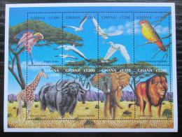 Poštovní známky Ghana 2000 Africká fauna Mi# 3067-74 Kat 10.50€