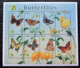 Poštovní známky Ghana 1999 Motýli Mi# 2949-56 Kat 11€