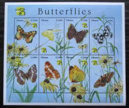Poštovní známky Ghana 1999 Motýli Mi# 2957-64 Kat 11€