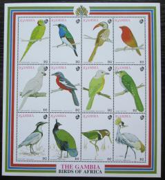 Poštovní známky Gambie 1993 Ptáci TOP SET Mi# 1565-76 Kat 24€