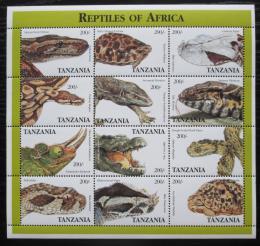 Poštovní známky Tanzánie 1995 Obojživelníci a plazi Mi# 2125-36 Kat 18€