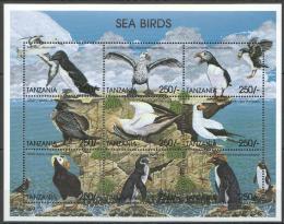 Poštovní známky Tanzánie 1999 Moøští ptáci Mi# 3841-49 Kat 9.50€ - zvìtšit obrázek