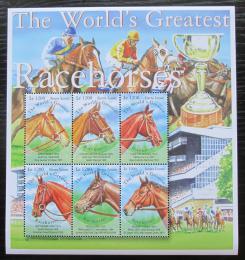 Poštovní známky Sierra Leone 2001 Dostihy, konì Mi# 3927-32 Kat 9.50€