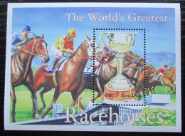 Poštovní známka Sierra Leone 2001 Dostihy, konì Mi# Block 502 Kat 8.50€