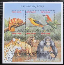 Poštovní známky Sierra Leone 1999 Africká fauna Mi# 3235-40 Kat 9€