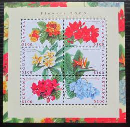 Poštovní známky Guyana 2000 Kvìtiny Mi# 7020-25 Kat 11€