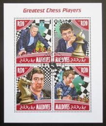 Poštovní známky Maledivy 2014 Svìtoví šachisti Mi# 5259-62 Kat 10€