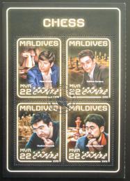 Poštovní známky Maledivy 2018 Svìtoví šachisti Mi# 7623-26 Kat 11€