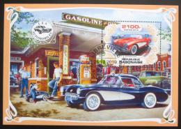 Poštovní známky Gabon 2019 Klasické automobily Mi# N/N