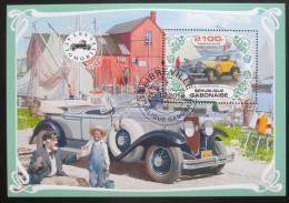 Poštovní známka Gabon 2019 Historické automobily Mi# N/N