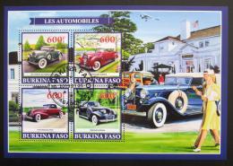 Poštovní známky Burkina Faso 2019 Historické automobily Mi# N/N