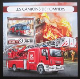 Poštovní známka Guinea 2016 Hasièská auta Mi# Block 2688 Kat 16€
