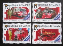Poštovní známky Guinea 2015 Hasièská auta Mi# 11058-61 Kat 16€