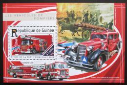 Poštovní známka Guinea 2015 Hasièská auta Mi# Block 2508 Kat 14€