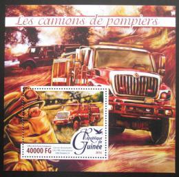 Poštovní známka Guinea 2016 Hasièská auta Mi# Block 2635 Kat 16€
