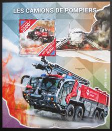 Poštovní známka Niger 2015 Hasièská auta Mi# Block 490 Kat 13€