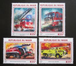 Poštovní známky Niger 2016 Hasièská auta Mi# 4452-55 Kat 13€