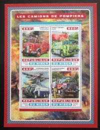 Poštovní známky Niger 2016 Hasièská auta Mi# 4677-80 Kat 13€