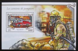 Poštovní známka Niger 2015 Hasièské auto Mi# Block 456 Kat 12€