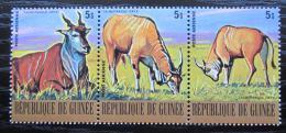Poštovní známky Guinea 1977 Antilopa losí Mi# 811-13 Kat 4.80€