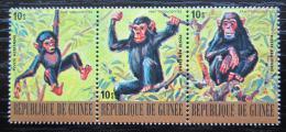 Poštovní známky Guinea 1977 Šimpanz uèenlivý Mi# 820-22 Kat 6.90€