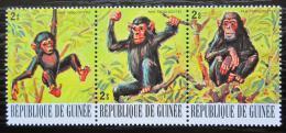 Poštovní známky Guinea 1977 Šimpanz uèenlivý Mi# 796-98