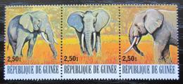 Poštovní známky Guinea 1977 Slon pralesní Mi# 799-801