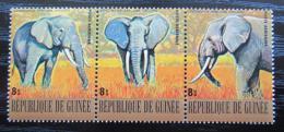 Poštovní známky Guinea 1977 Slon pralesní Mi# 814-16 Kat 6€