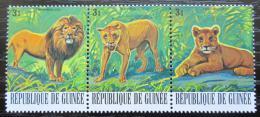 Poštovní známky Guinea 1977 Lev pustinný Mi# 802-04 - zvìtšit obrázek