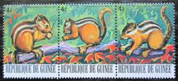 Poštovní známky Guinea 1977 Veverka indická Mi# 805-07 Kat 3.90€