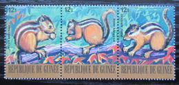 Poštovní známky Guinea 1977 Veverka indická Mi# 823-25 Kat 7.50€